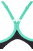 arena Variety One Piece Swimsuit Women black/bali green/fresia rose
